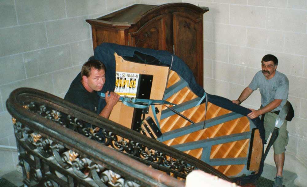 Port d'un piano à queue, l'art et la manière, comment porter un piano à queue