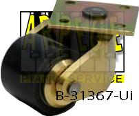 B-31367-Ui : Roue en polyuréthane, roulette pour piano droit, plaque laiton, roulement à billes, diamètre roue 35 mm, hauteur 42 mm, compatible parquet
