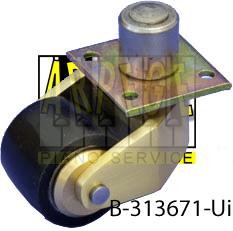 B-313671-Ui : Roue en polyuréthane, roulette, pour piano droit, avec tenon laiton, roulement à billes, diamètre 35 mm, hauteur 42 mm, compatible parquet