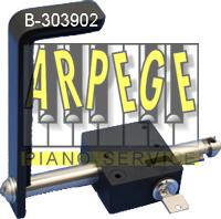 Serrure arceau pour piano Steinway Ref. B-303902