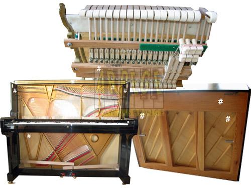 Localiser le numéro de série d'un piano droit, où trouver