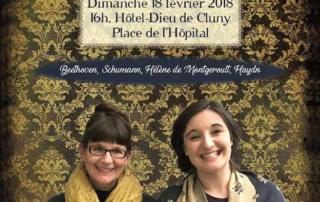 Concert Beth margareth TAYLOR et Marcia Hadjimarkos 18 février 2018 à 16h à l'Hôtel Dieu de Cluny