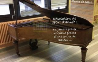 Piano Erard sacrifié sur un radiateur