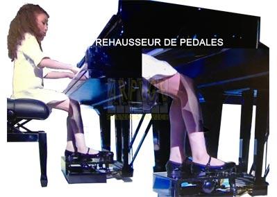 Rehausseur, extension de pédales pour piano