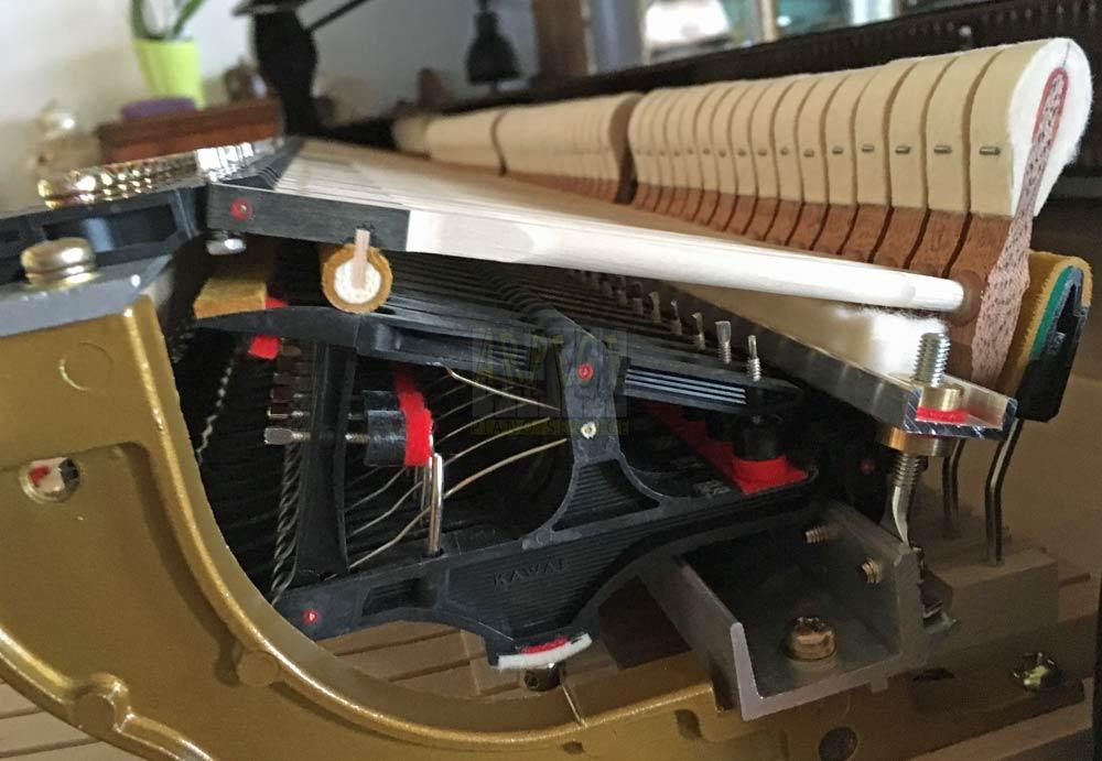 Chevalets en carbone ABS sur piano Kawaï Shigeru SK3