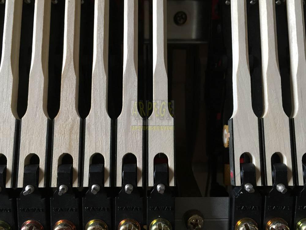 Manches en bois de marteau de piano Kawaï Shigeru SK3