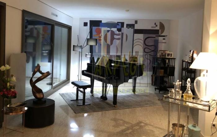 Piano à queue, immeuble le président, Annecy, tournage TV Cassandre
