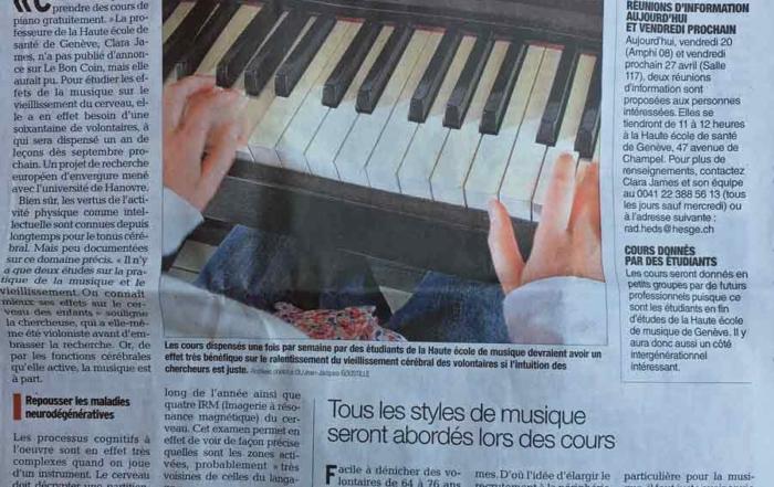 Effet-musique- sur-cerveau : Haute Ecole de Santé Genève cherche seniors pour cours de piano gratuits