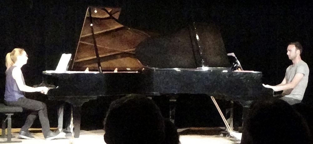 Master-classes Guillaume VINCENT - Le Tremplin 2018 - Mozart - 2 pianos