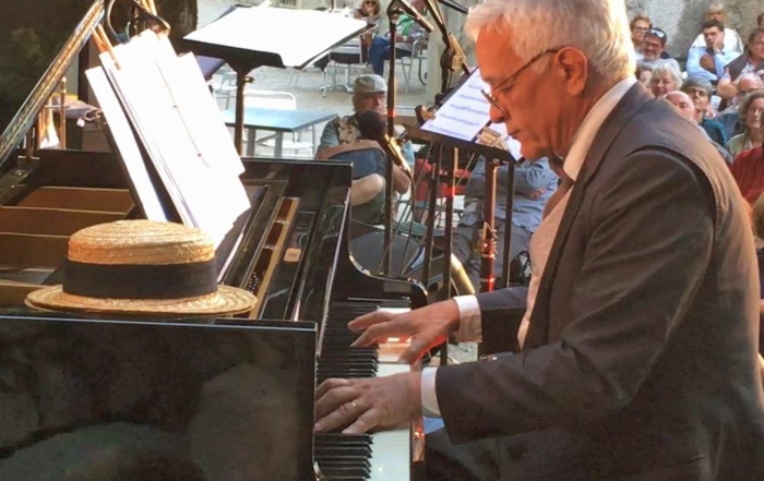Brenno Boccadoro plays Maple Leaf Rag, on the stage of Jazz in Fort l'Ecluse 2018