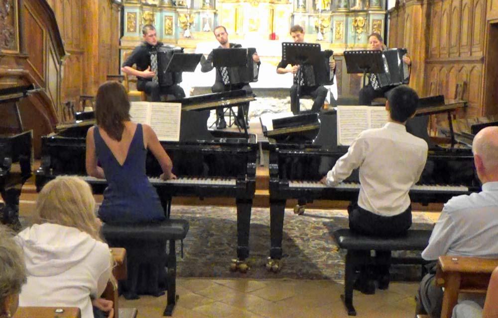 Anya Ricois Potapov, Christophe Zhang, concerto BWV 1062 en Do m pour deux pianos