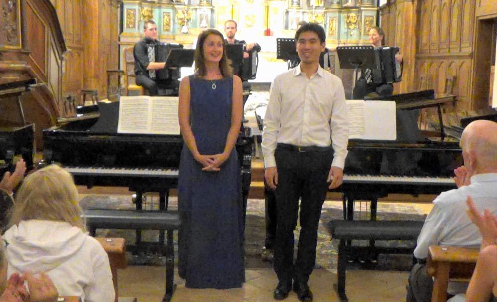 Anya Ricois Potapov, Christophe Zhang, Concerti Bach, Saint Gervais les Bains