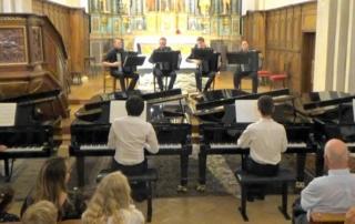 concerti de bach, transcription pour 4 pianos et 4 accordéons