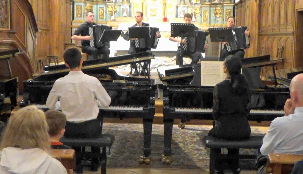 Rémi Bétermier et Lina Berrada Concerti Bach Saint Gervais Mont-Blanc