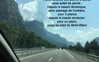 Transhumance outre frontières des pianos à queue pour Concerti de J.C? Bach à Saint gervais les Bains