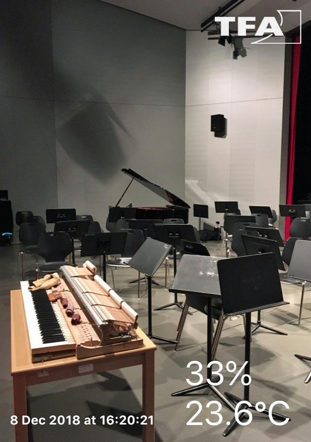Extinction de voix d'un piano victime d'une hygrométrie hors norme