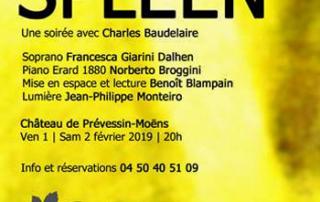 Récital beaudelaire au château de Prevessin-Moëns