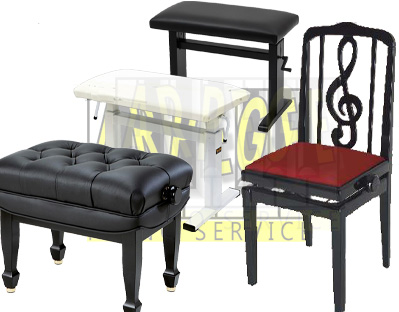 Banquettes, sièges, pour piano