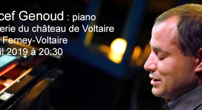 Moncef Genoud : piano, en concert à l'orangerie du château de Ferney-Voltaire le 18 avril 2019