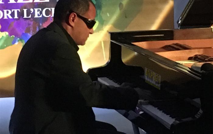 Moncef Genoud en concert piano solo à l'Orangerie du château de Voltaire à ferney en ouverture de Jazz in Fort l'Ecluse 2019