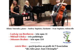 concert Prieuré talloires 31 mai 19 Aliona Tourenko, piano- Audrey Tupinier, clarinette, Ivan Tupinier, violoncelle