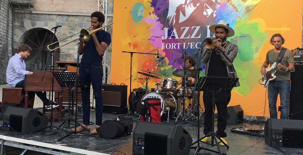 Frank Salis : Hammond-H3,Michael Watson-vocal : trombone, Rocco Lombardi : drums, Ashlin Parker : trumpet - Pierangelo Crescenzio : bass. Jazz-in Fort l'Ecluse