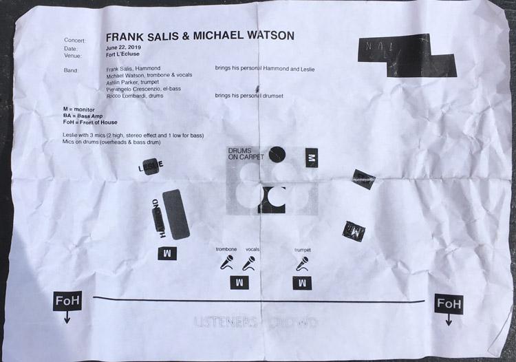 Plan de scène Frank Salis et Michael Watson