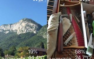 Grosses chaleurs! attention aux instruments à cordes, tels les pianos