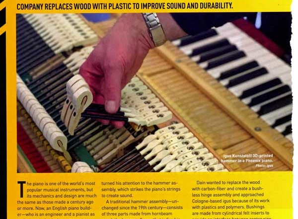 3d printed piano flanges and shanks - mecanical engineering mag - page 1