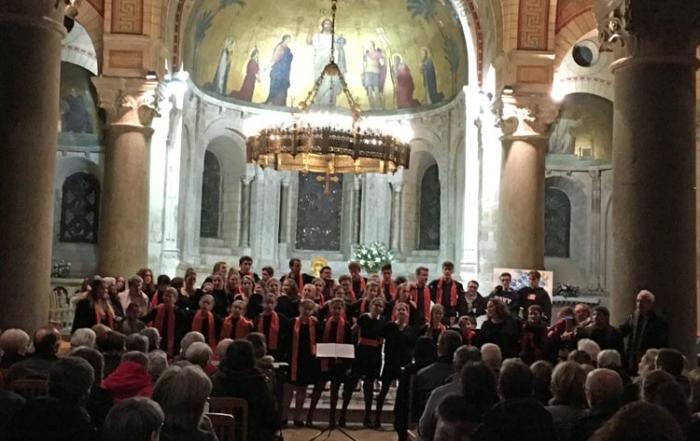 Choeur du Camp chantant 2018 en concert à l'Abbaye d'Ainay, à Lyon