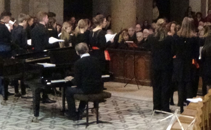 Back-stage du concert anniversaire des 70 ans du camp chantant en l'Abbaye d'Ainay à lyon le 10 novembre 2019