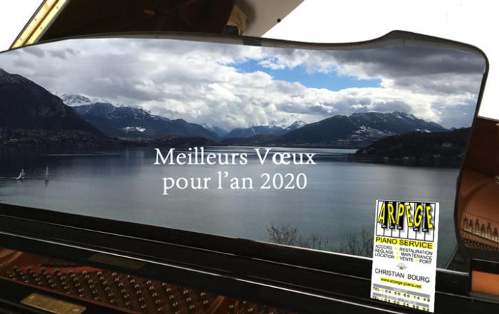 Du lac d'Annecy, Arpège Piano Service et Christian Bourg vous présentons nos meilleurs vœux pour l'an 2020