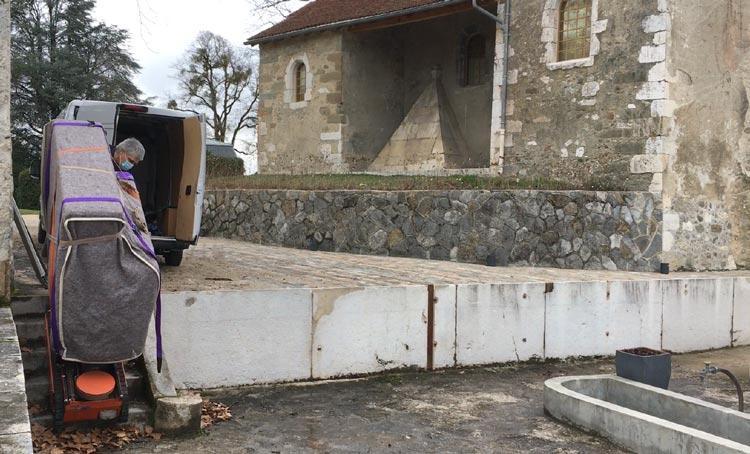 Manutention piano pour concert à l'Orangerie du Château de Voltaire