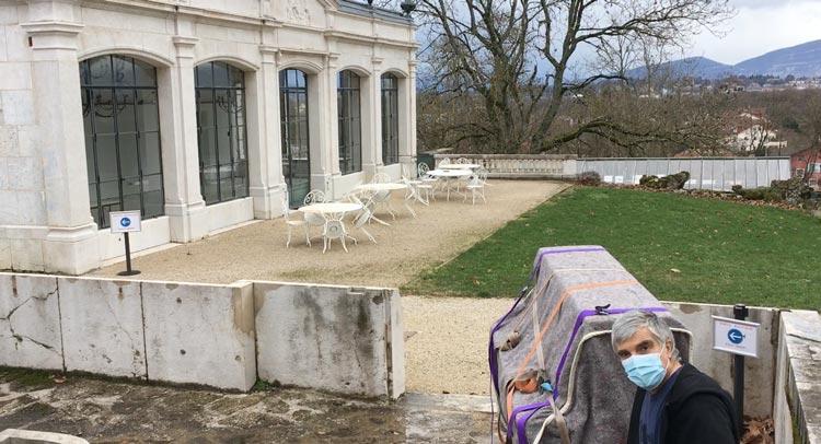 Transport piano pour concert à l'Orangerie du Château de Voltaire