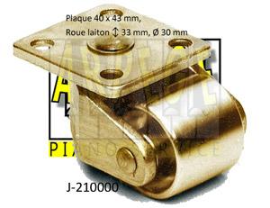 roulette de piano droit, laiton - J-210000