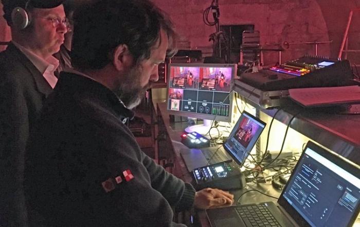 Aux manettes : Nicolas Renard et Adriano Bassanini pour streaming YEMAYA au Fort l'Ecluse en mai 2021, Pays de Gex